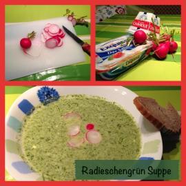 Radieschengrün Suppe mit Ziegenfrischkäse